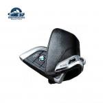 Кожаный чехол для ключа с клипсой - BLACK