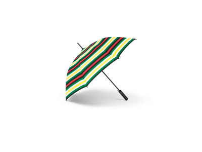 Зонт-трость MINI Walking Stick Signet Umbrella, Striped, 60 Years Collection