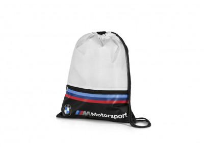 Сумка-мешок для спортивных принадлежностей BMW M Motorsport Sports Bag, White / Black