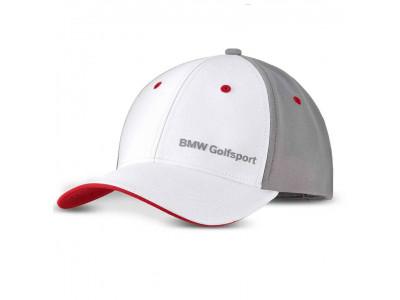 Бейсболка BMW Golfsport Cap, Unisex, White / Grey / Red