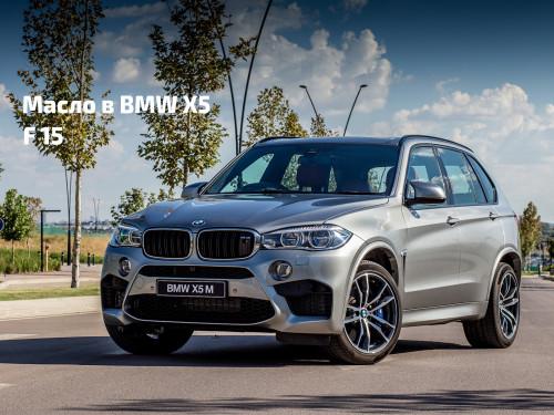 Масло в двигатель BMW X5 F15.